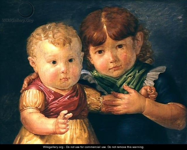 The Artists Children, Maria Dorothea and Otto Sigismund Runge, 1809 - Philipp Otto Runge
