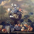 Still Life of Fruit and Flowers in an Urn - (circle of) Ruoppolo, Giovanni-Battista