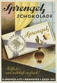 German advertisement for Sprengel chocolate, produced by B Sprengel und Co., Hannover, 1924 - Richard Rump