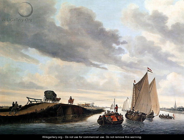 The Water Coach - Jacob Salomonsz. Ruysdael