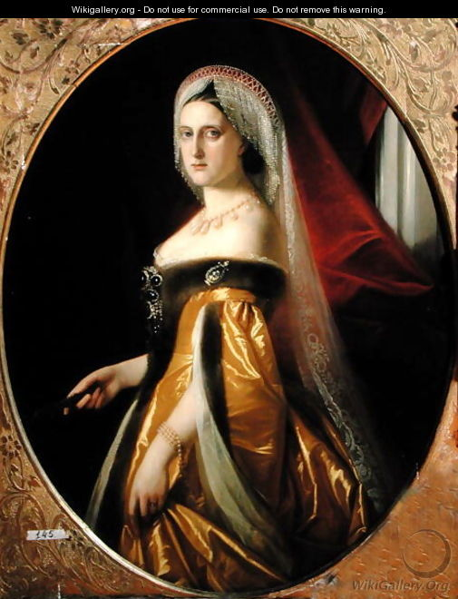 Portrait of Grand Duchess Maria Nikolaevna 1819-76 President of the St. Petersburg Art Academy - Anonymous Artist