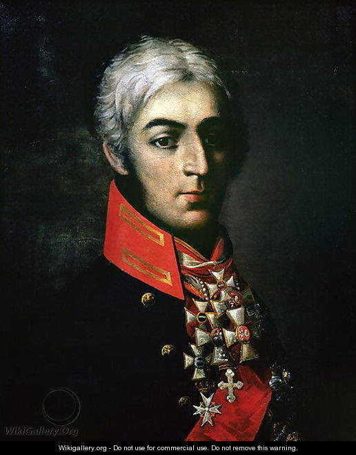 Portrait of Prince Peter Bagration 1765-1812 Russian general - Anonymous Artist