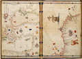 Ms Ital 550.0.3.15 fol.4v-5r Map of the Eastern Mediterranean Coast and Islands, from the Carte Geografiche - Jacopo Russo