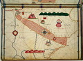 Ms Ital 550.0.3.15 fol.6r Map of Egypt, from the Carte Geografiche - Jacopo Russo