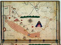 Ms Ital 550.0.3.15 fol.5v Map of the Red Sea, from the Carte Geografiche - Jacopo Russo
