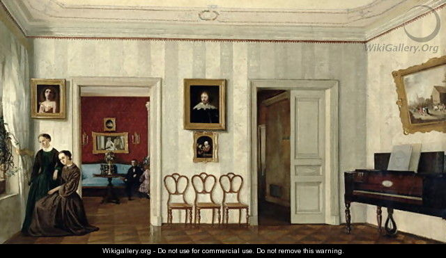 The small hall with the piano - Anonymous Artist
