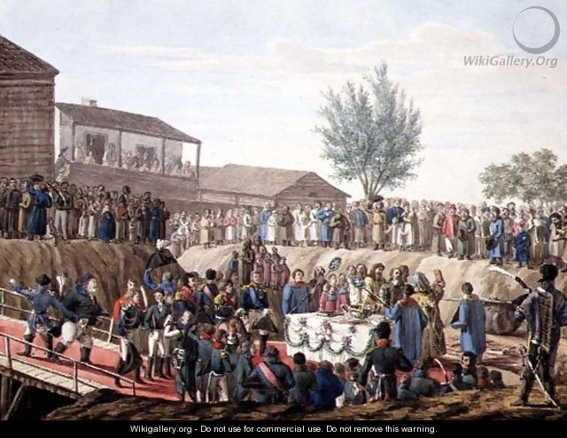 The Laying of the First Stone of the Customs House at Mohiloff in 1820 - Anonymous Artist