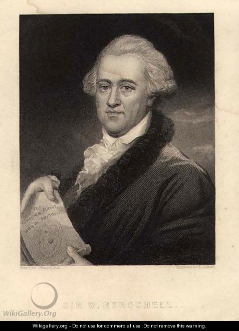 Portrait of Sir William Herschel 1738-1822, engraved by Edward Scriven 1775-1841 - John Russell