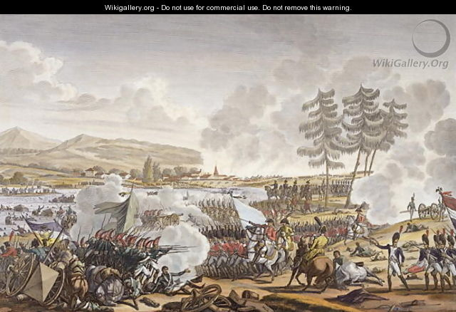 The Battle of Friedland, 14 June 1807, engraved by Francois Pigeot b.1775 - (after) Swebach, Jacques Francois Joseph