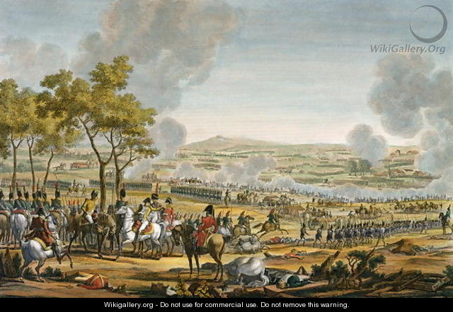 The Battle of Wagram, 7 July 1809, engraved by Louis Francois Mariage - (after) Swebach, Jacques Francois Joseph