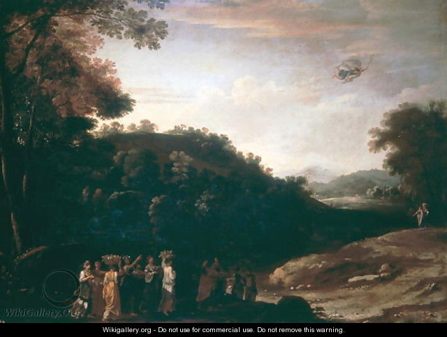Landscape with Mercury - Herman Van Swanevelt