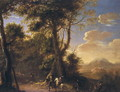 Landscape with cavaliers - Herman Van Swanevelt