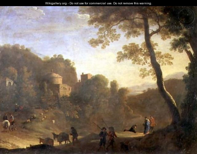 Landscape with figures - Herman Van Swanevelt
