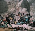 Combat on board the ship Tonnant, engraved by Jean Baptiste Morret fl.1790-1820 1789 - (after) Swebach, Jacques Francois Joseph