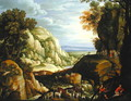 Mountainous Landscape with Shepherds and Travellers - Maerten Ryckaert