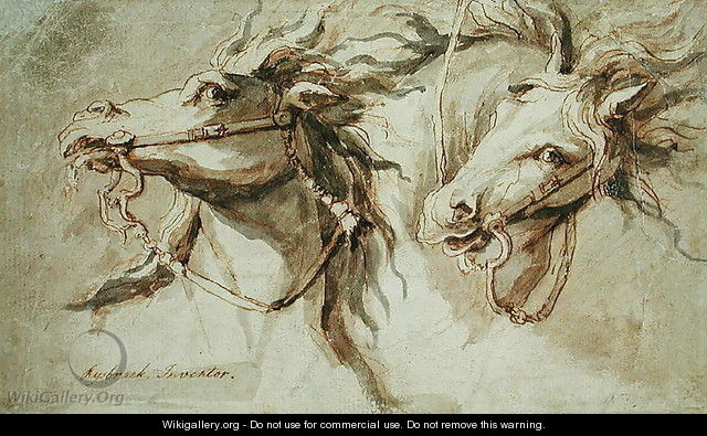 Two Horses Heads - John Michael Rysbrack