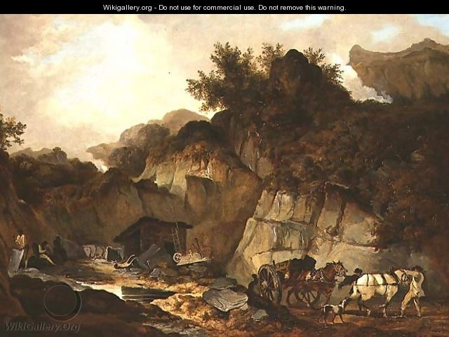The Slate Quarry - (circle of) Stubbs, George