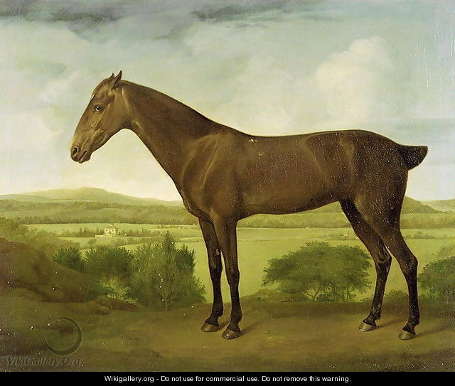 Brown Horse in a Hilly Landscape, c.1780-1800 - George Stubbs