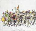 Procession of King Punch during the Roman Carnival, early 19th century - (after) Stuermer, Johann Heinrich