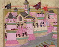 TSM H.1524 Siege of Vienna by Suleyman I 1494-1566 the Magnificent, in 1529, from the Hunername by Lokman, detail of Vienna, 1588 - I the Magnificent Suleyman