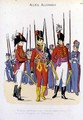 The Duke of Cambridge and His Aides de Camps Reviewing the Troops by Christoph Suhr 1771-1842 - Christoph Suhr