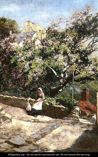 Mother and Child Beneath the Blossom - Lester Sutcliffe