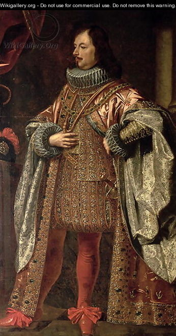 Vincenzo II Gonzaga, ruler of Mantua from 1587-1612, wearing a cloak of the Order of the Redemeer - Justus Sustermans