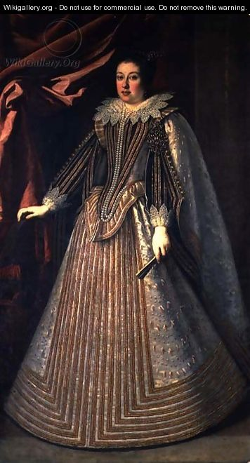 Margherita de Medici, daughter of Cosimo II and Magdelena of Austria - Justus Sustermans