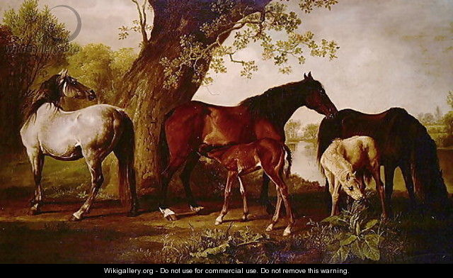 Mare and Foals - George Stubbs