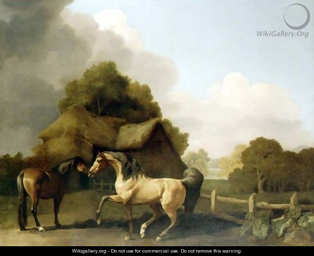 A Roan Stallion and a Bay Mare, 1769 - George Stubbs