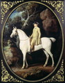 Huntsman with a Grey Hunter and Two Foxhounds: details from the Goodwood Hunting picture, 1760-61 - George Stubbs