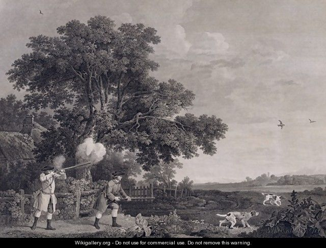 Shooting, plate 3, engraved by William Woollett 1735-85 1770 - George Stubbs