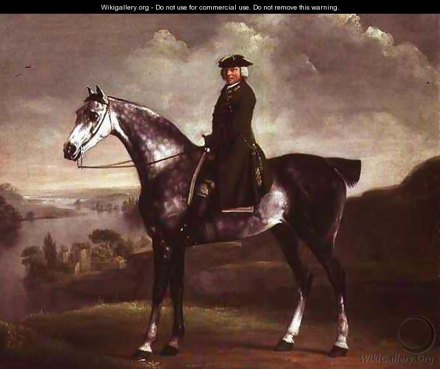 Joseph Smyth Esquire, Lieutenant of Whittlebury Forest, Northamptonshire, on a Dapple Grey Horse, c.1762-64 - George Stubbs