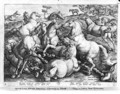 Horses in the wild - Jan van der (Joannes Stradanus) Straet