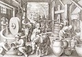 The Production of Olive Oil, plate 13 from Nova Reperta New Discoveries engraved by Philip Galle 1537-1612 c.1600 2 - (after) Straet, Jan van der (Giovanni Stradano)