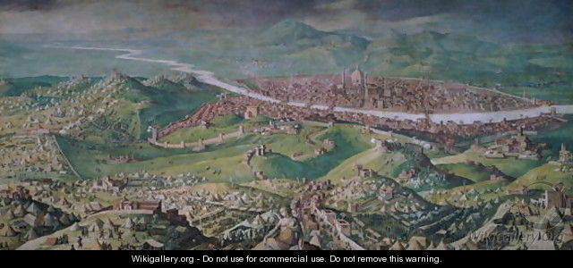 The Siege of Florence in 1530, 1563-65 - Jan van der (Joannes Stradanus) Straet