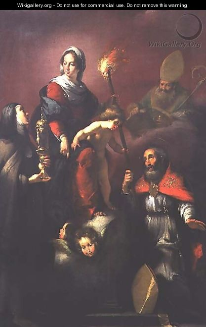 Madonna and Child with St. Clare, St. Ambrose and St. Erasmus - Bernardo Strozzi
