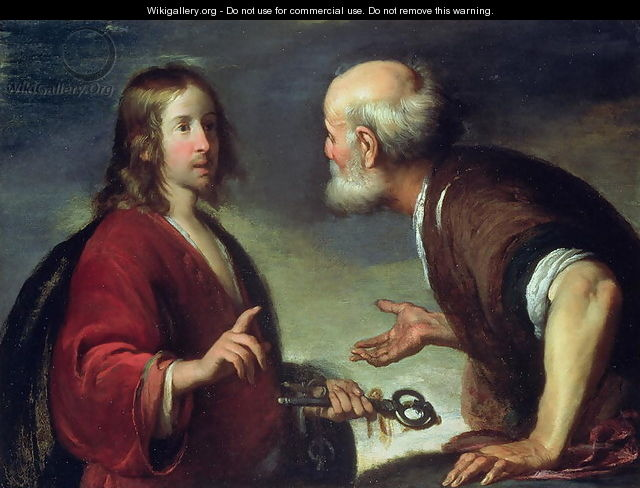 The Delivery of the Keys to St. Peter - Bernardo Strozzi ...