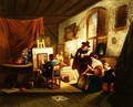 The artists studio - Johannes Anthonie Balthasar Stroebel