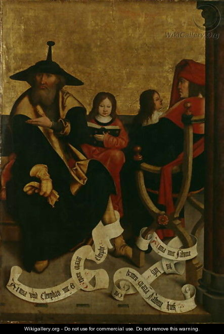 Cleophas and Mary of Cleophas, Salomas and Mary Salome, c.1505-06 - Bernhard Strigel