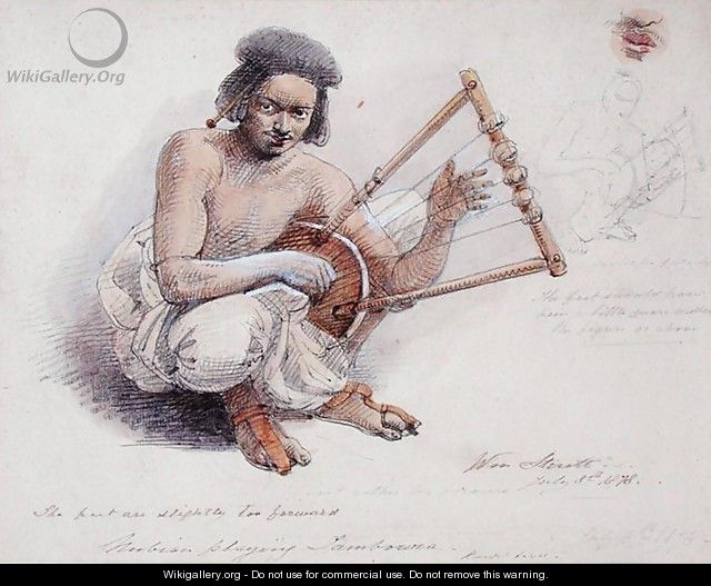 Nubian Playing Tambourine, 8th July 1878 - William Strutt
