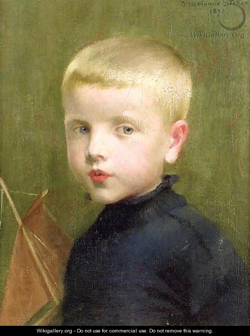 Portrait of a Boy with a Model Sailing Boat, 1893 - Marianne Preindelsberger Stokes
