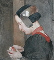 Portrait of a Lady Peeling an Apple - Marianne Preindelsberger Stokes