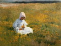 In a Field of Buttercups - Marianne Preindelsberger Stokes