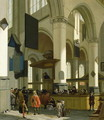 Interior of the Oude Kerk, Delft, with a preacher - A. and Streeck, H. van Storck
