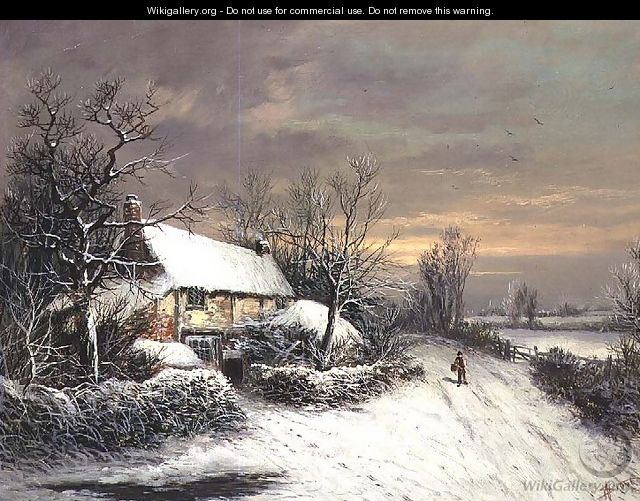 A Cottage in Winter - William Oliver Stone