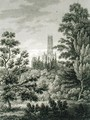 Fonthill Abbey from the American Plantation, published by W. Clarke, New Bond Street, 1812 - James Storer