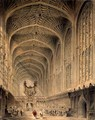 The interior of Kings College Chapel, Cambridge, c.1815 - Henry Sargent Storer