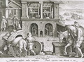 A Water Mill, plate 11 from Nova Reperta New Discoveries engraved by Philip Galle 1537-1612 c.1600 2 - (after) Straet, Jan van der (Giovanni Stradano)