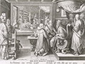 The Beginning of the Silk Industry in Europe, plate 9 from Nova Reperta New Discoveries engraved by Philip Galle 1537-1612 c.1600 - (after) Straet, Jan van der (Giovanni Stradano)